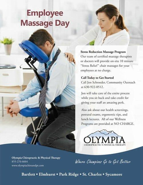 Chiropractic Elmhurst IL Employee Massage Day