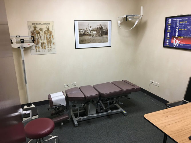 Chiropractic Bartlett IL Adjustment Table