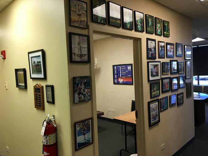 Chiropractic Bartlett IL Hallway Door with Sports Photos