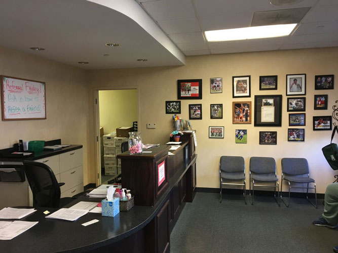 Chiropractic Bartlett IL Front Desk and Waiting Area